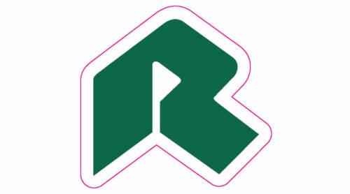 "Riviera Country Club Golf Logo Decal - 2"" x 2.5"""
