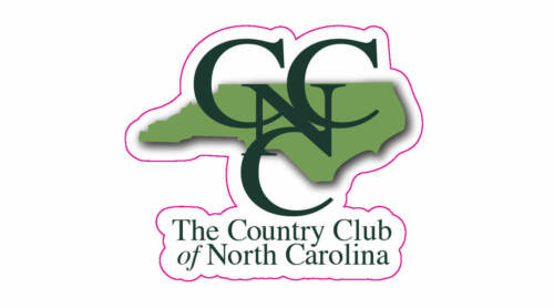 "Country Club of North Carolina Golf Logo Decal - 2"" x 2.5"""