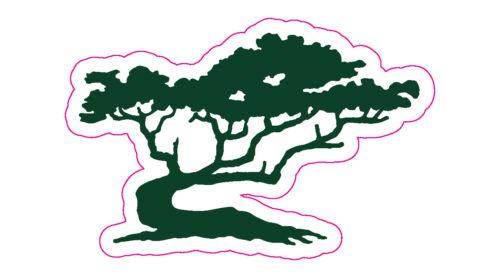 """Cypress Point Golf Club Logo Decal - 1.75"""" x 3"""""""