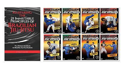 Brazilian Jiu-Jitsu Instructional Book and 8 DVD Set - Free Shipping