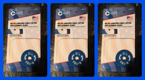 SOUTHWIRE SEATEK MC/BX Cable Cutter Replace Blade B-102 Roto-Split- 3 PACK