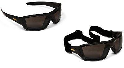 Dewalt Converter Safety Glasses Goggles Smoke Anti Fog Lenses Foam Padded
