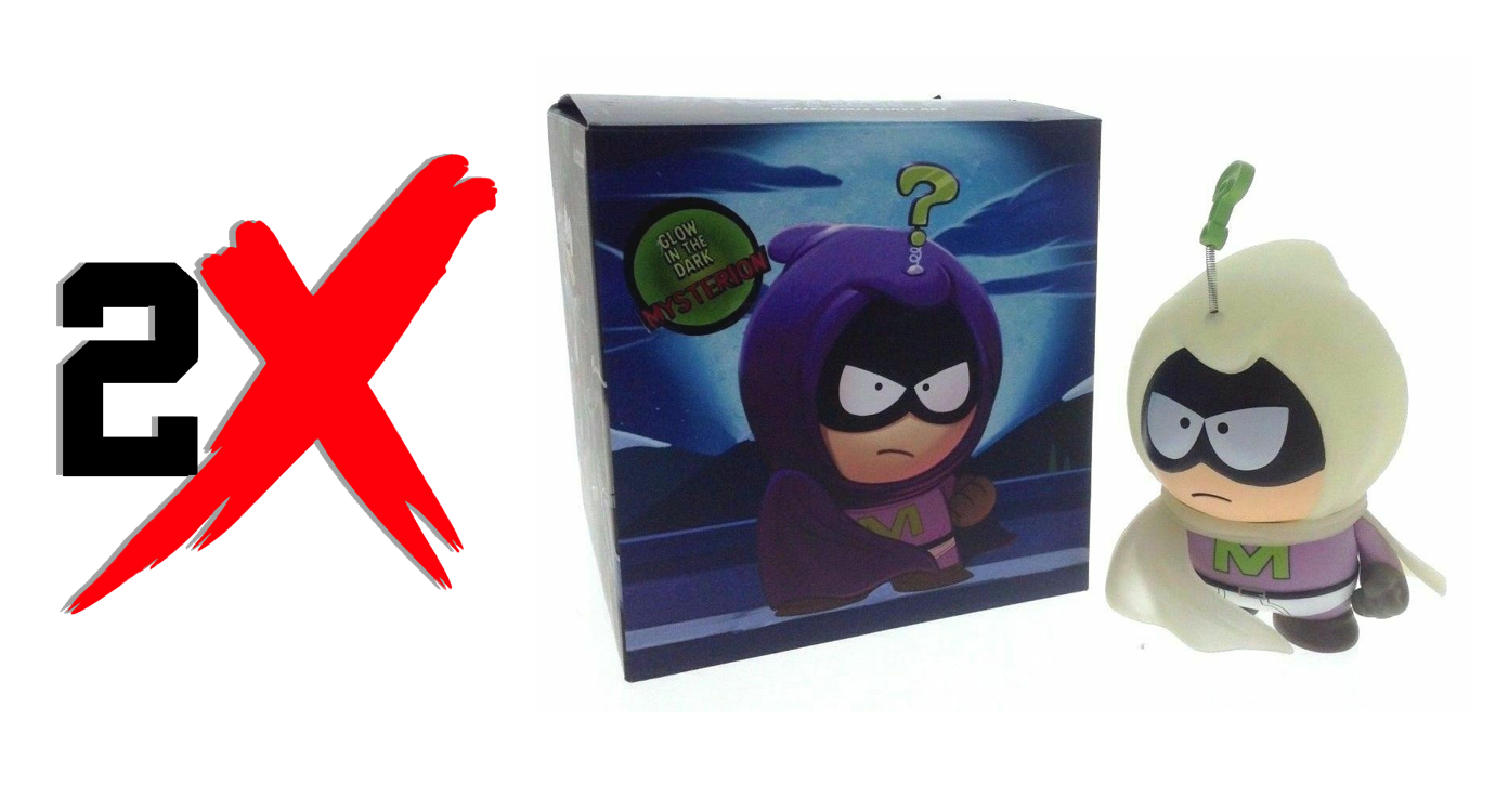 Kidrobot South Park The Fractured But Whole Mysterion Figure SUPERCOOL Glows 7""