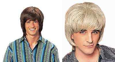 1970S 70'S ADULT MENS DISCO FEVER SHAG SHAGGY BROWN BLACK BLONDE COSTUME WIG - 1970s Wig