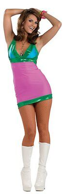 Adult Sexy Go Go Brightly Dancer Halloween Costume 60s 70s Mod Retro One - Go Dancer Halloween Costumes