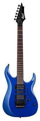 Cort X250KB Guitarra Eléctrica, Meranti Cuerpo, EMG Pickups, Kona Azul Acabado,