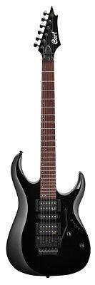 Cort X250BK Guitarra Eléctrica, Meranti Cuerpo, EMG Camionetas, Negro Acabado,