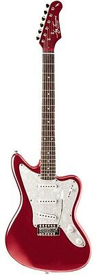 New! Jay Turser JG Series Electric Guitar - Candy Apple Red Jaguar Style Body
