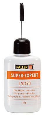 FALLER ALL SCALE SUPER EXPERT PLASTIC GLUE (25G BOTTLE) SHIPS FROM USA   170490