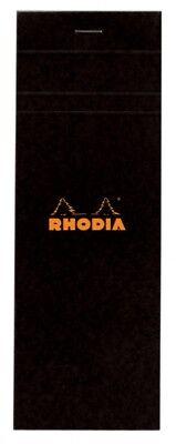 Rhodia Staplebound - Notepad - Black - Graph - 3 X 8.25 - R82009