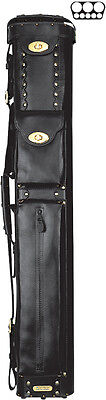 Instroke Cowboy 3x5 Leather Pool Cue Case Black w/ FREE Shipping (Leather Cowboy Cue Case)