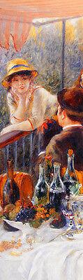 Renoir Das Frühstück der Ruderer detail Poster Bild 93x28cm