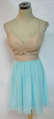 NWT HAILEY LOGAN $85 Mint Nude Cocktail Party Dress 11