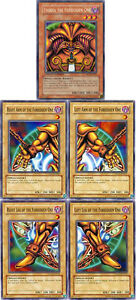 YuGiOh EXODIA THE FORBIDDEN ONE 5-Card SET w/SECRET RARE HoloFoil+4 Arms & Legs!