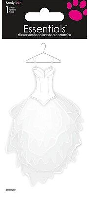 Scrapbooking Crafts Stickers Sandylion Wedding Dress Hanger White Lace Material
