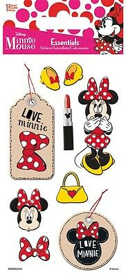 Scrapbooking Stickers Crafts Dimensional Disney Minnie Mouse Pink Lipstick Dots ()