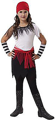 Girls Classic Pirate Halloween Costume ALL SIZES NEW Dress Bandana Gloves - All Halloween Costumes For Girls