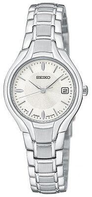 Seiko Women's Dress Silver-Tone Stainless Steel Japanese Quartz Watch SXDA33