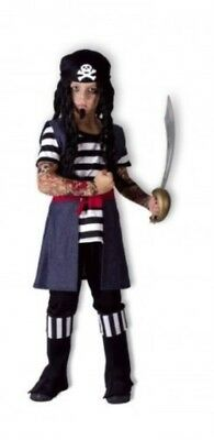 New Boys Boys Tattoo Sleeve Pirate Fancy Dress Costume Book Week Inc Boot (Kostüm Boot Tops)