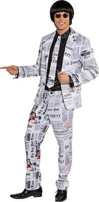 Orl - Herren Kostüm Anzug Zeitung Reporter Karneval -