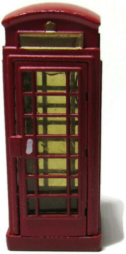 Lemax Christmas Village Figure Victorian Red English British Phone Booth