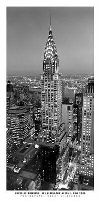 - Chrysler Building New York Henri Silberman Cityscape Art Print Poster 7x17