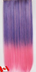 """Clip in hair extension,Straight hair,60 cm, 24"""",LIGHT PINK #B001 Yellowknife Northwest Territories image 2"""