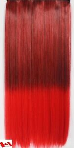 """Clip in hair extension, Straight hair, 60 cm, 24"""", 100g,  RED St. John's Newfoundland image 5"""
