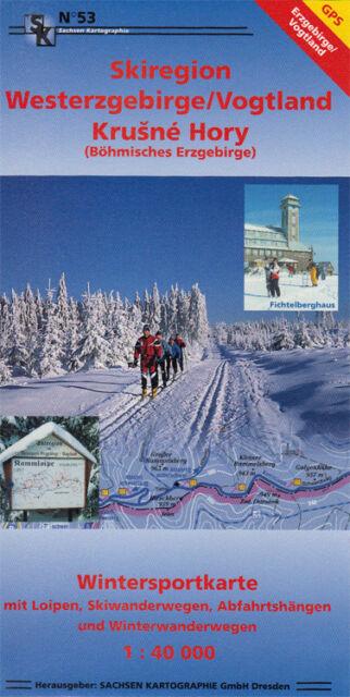Wintersportkarte Skiregion Westerzgebirge / Vogtland mit GPS