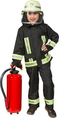 Orl - Kinder Kostüm Feuerwehrmann Latzhose Jacke - Feuerwehrmann Kostüm Hose