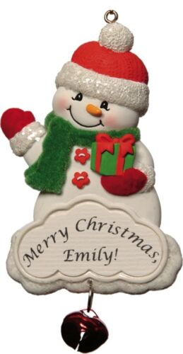 PERSONALIZED SNOWMAN ORNAMENT MAGNET JEANE