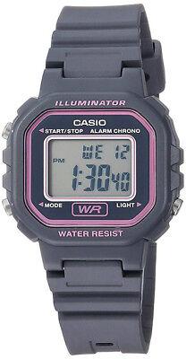 Casio Women's Classic Digital Quartz Gray Resin Watch LA-20WH-8ACF
