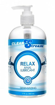 CleanStream Relax Desensitizing Anal Lube Lubricant 17 oz