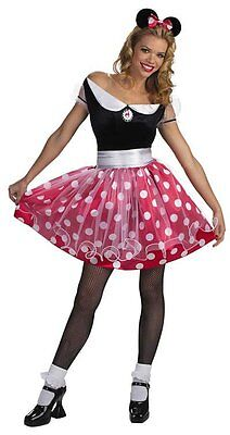 Minnie Mouse Disney Classic Polka Dot Cute Dress Up Halloween Sexy Adult Costume](Halloween Costumes Minnie Mouse Adults)