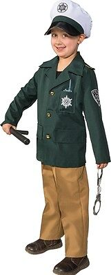 Polizisten Uniform grün Kinderkostüm NEU - Mädchen Karneval Fasching Verkleidung
