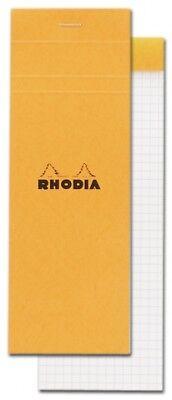 Rhodia Staplebound - Notepad - Orange - Graph - 3 X 8.25 - New R8200