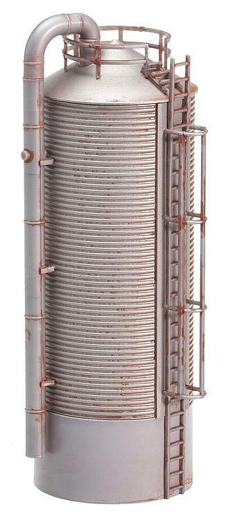"""NEW ! HO scale Faller Weathered """" STEEL """" FARM SILO : Building KIT # 180621"""