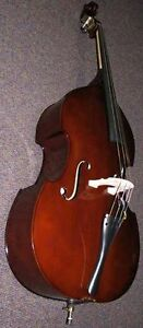 3/4 UPRIGHT DOUBLE BASS FIDDLE+SOFT CASE+ Bow FreeShip* - SWEET SOUNDING/TOUGH