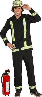 Feuerwehr Mann Uniform Herrenkostüm NEU - Herren Karneval Fasching Verkleidung K