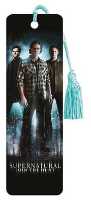 SUPERNATURAL - GREEN BOOKMARK - BRAND NEW - BOOK READING 6535