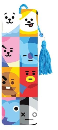 BT21 - CHARACTER GRID BOOKMARK - BRAND NEW - BOOK READING 6761