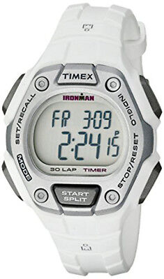 Timex Women's Ironman 100m 30 Lap Digital  White Tone Resin Watch TW5K89400