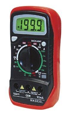 Mas830l - Digital Volt Ohm Milliamp Meter Vom - Multimeter With Test Leads