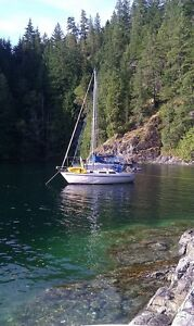 1/2 share in 1975 30' cruising sailboat - Pender Harbour, BC