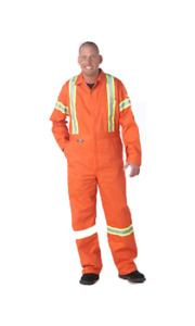"REFLECTIVE SAFETY WORK WEAR 42"" COVERALLS, TEE, VEST"