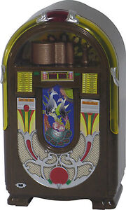 jukebox miniature replica wurlitzer 850 1941 plays tutti frutti by gene krupa ebay. Black Bedroom Furniture Sets. Home Design Ideas