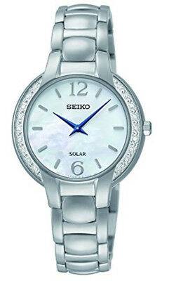 Seiko Women's Analog Quartz Mother of Pearl Dial Stainless Steel Watch SUP253