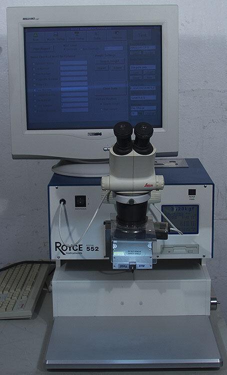 Royce 552 Universal Bond Test System Tester w/20 Kg Die Shear Module STM-20Kg