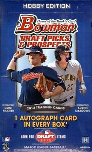 2013 BOWMAN DRAFT 1/2 CASE HOBBY LIVE BREAK - BOSTON RED SOX +3 RANDOM CARDS