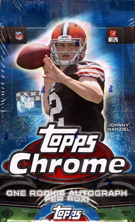 2014 Topps Chrome Football Hobby Factory Sealed Box  Derek Carr Rookie Card